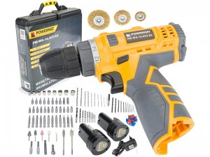 Powermat cordless drill screwdriver and accessories at Wasserman.eu