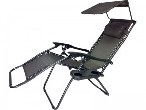 Garden deckchair, beach Zero Gravity + table + roof at Wasserman.eu
