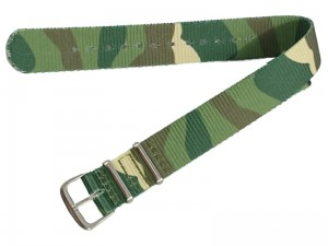 Fabric strap 18mm camo at Wasserman.eu