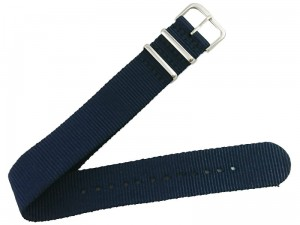 Fabric strap 22mm dark blue at Wasserman.eu