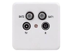 Gniazdo końcowe RTV-2xSAT Signal R694140 w sklepie Wasserman.eu