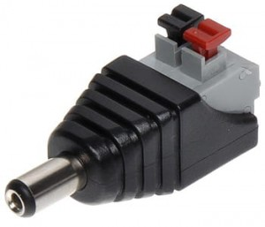 DC plug 2.1 / 5.5 quick connection clamp power supply at Wasserman.eu