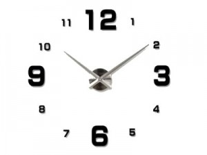 Big wall clock 130cm black at Wasserman.eu