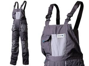 Spodnie robocze z szelkami Hogert HT5K270 XL 10 kieszeni, wstawki HT5K270-XL w sklepie Wasserman.eu