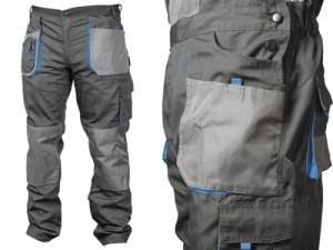 Spodnie robocze Hogert HT5K274 XL 6 kieszeni, wstawki HT5K274-XL w sklepie Wasserman.eu