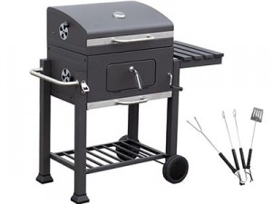 Large, roomy grill with DELUXE Q43I version on wheels at Wasserman.eu
