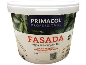 Acrylic paint Primacol Fasada Eco white 10L at Wasserman.eu