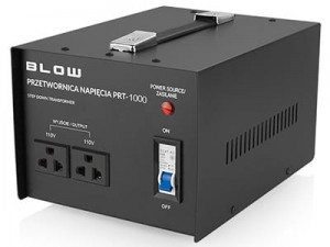 230V / 110V voltage converter with two sockets at Wasserman.eu
