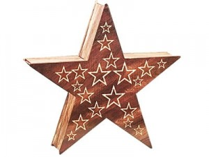 Decoration wooden LED star 1C 35cm at Wasserman.eu
