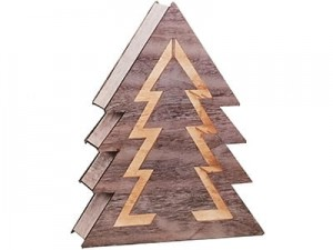Wooden Christmas tree decoration. LED backlight 1j 35cm at Wasserman.eu