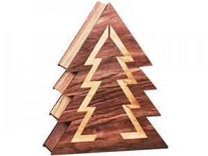 Wooden Christmas tree decoration. LED backlight 1c 35cm at Wasserman.eu