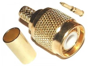 TNC plug on H155 gold plated - male pin at Wasserman.eu