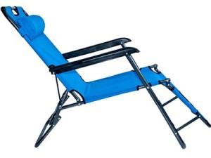 Leżak ogrodowy, plażowy składany 3-stopnie L66B2 BLUE w sklepie Wasserman.eu