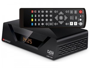 DVB-T2 tuner. Opticum AX Lion 3-M decoder at Wasserman.eu