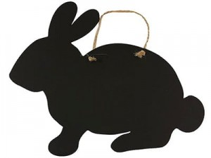 Rabbit pendant with plywood Large 30cm Plate at Wasserman.eu
