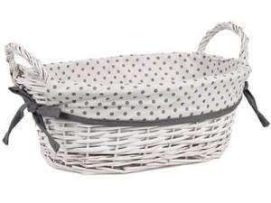 Wicker basket, oval with handles. Basket HT17B065.3.L at Wasserman.eu