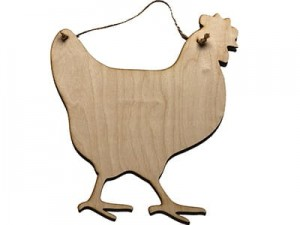 Hen pendant large 30cm plywood at Wasserman.eu