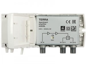 Terra DVB-T Amplifier AS-039L LTE adjustable at Wasserman.eu