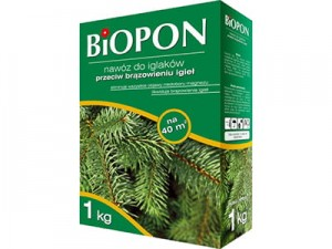Biopon fertilizer for conifers against browning 1kg at Wasserman.eu