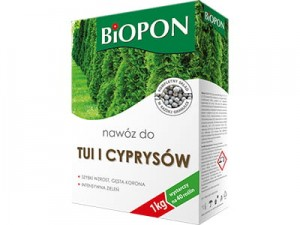Biopon fertilizer for thuja and cypresses 1kg at Wasserman.eu