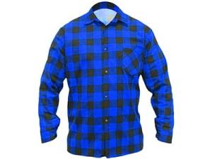 Koszula flanelowa niebieska w kratę Dedra BH51F2-S w sklepie Wasserman.eu