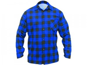 Dedra BH51F2-M blue checked flannel shirt at Wasserman.eu