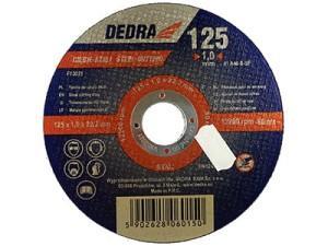 Cutting disc for 125x22,2x1mm steel Dedra F13021 at Wasserman.eu