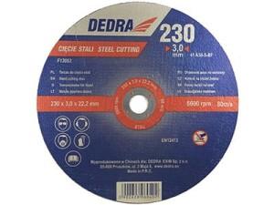 Tarcza do cięcia stali 230x22,2x3mm Dedra F13053 w sklepie Wasserman.eu