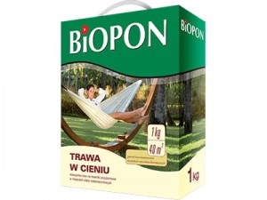 Grass in the shade of Biopon seeds 1kg 40m2 at Wasserman.eu