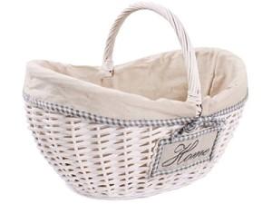 Koszyk wiklinowy biały z materiałem HL12292.2.L w sklepie Wasserman.eu