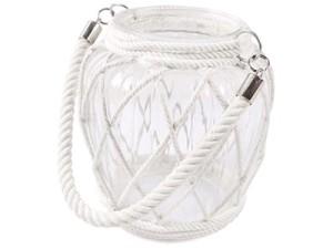 Szklany lampion z białym sznurem LX16014B w sklepie Wasserman.eu