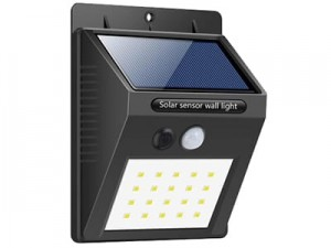 20LED solar lamp with SW2011-PIR sensor at Wasserman.eu
