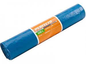 LDPE garbage bags Perfecto blue 120l 25pcs at Wasserman.eu