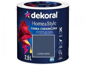Farba ceramiczna Dekoral Home&Style 2,5l CLASSIC JEANS w sklepie Wasserman.eu