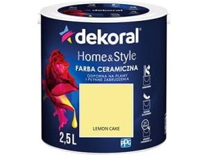 Farba ceramiczna Dekoral Home&Style 2,5l LEMON CAKE w sklepie Wasserman.eu