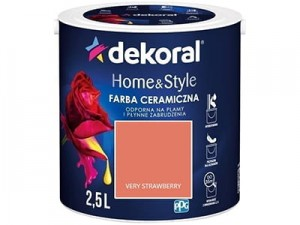 Farba ceramiczna Dekoral Home&Style 2,5l VERY STAWBERRY w sklepie Wasserman.eu