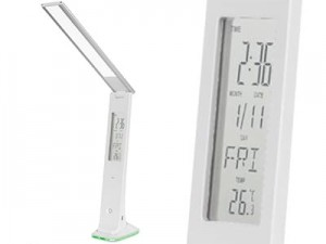 LED desk lamp KOM1010 battery with LCD (time, temperature) at Wasserman.eu