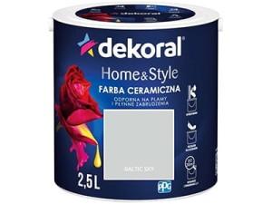 Farba ceramiczna Dekoral Home&Style 2,5l BALTIC SKY w sklepie Wasserman.eu