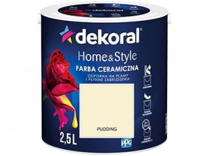 Farba ceramiczna Dekoral Home&Style 2,5l PUDDING w sklepie Wasserman.eu