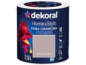 Farba ceramiczna Dekoral Home&Style 2,5l WISTERIA VIOLET w sklepie Wasserman.eu