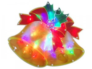 Dzwonki 30 LED RGB 42x35cm E14 multikolor Święta w sklepie Wasserman.eu
