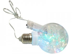 RGB Christmas ornament Bulb 8cm 20 LED E16A at Wasserman.eu
