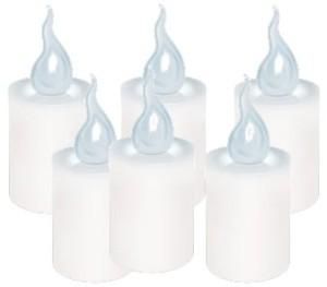 Znicze LED migające S1 6 sztuk białe plus baterie w sklepie Wasserman.eu