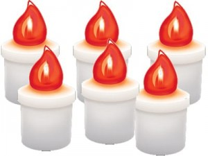 Comet red LED candles 6 pcs, 2x R14 batteries at Wasserman.eu
