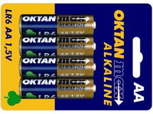 Alkaline batteries AA 1.5V Oktan Max LR6 4 pieces at Wasserman.eu