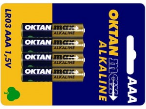 Alkaline batteries AAA 1.5V Oktan Max LR03 4 pieces at Wasserman.eu