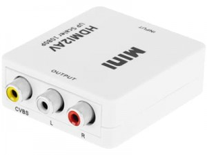 Konwerter sygnału HDMI- AV chinch CVBS +audio KOM0982 w sklepie Wasserman.eu