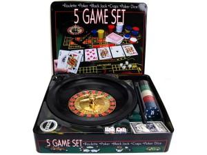 Zestaw Casino poker ruletka black jack kości 5w1 B10D w sklepie Wasserman.eu