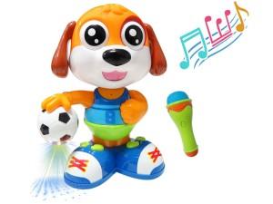 Interactive dog. Footballer B16G is dancing and is singing at Wasserman.eu