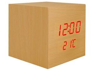 Zegarek budzik kostka LED z termometrem LXLTC04 w sklepie Wasserman.eu